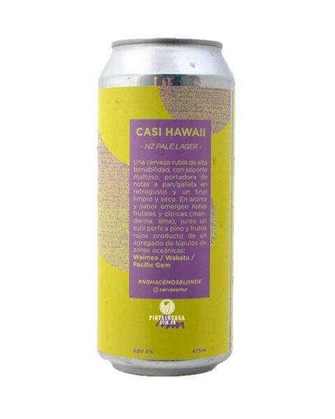 lata cerveza artesanal casi hawai lager